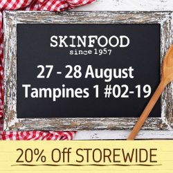 Skinfood: 20% OFF Sale at Tampines 1 Outlet