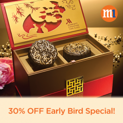 M1: Early Bird Special - Up to 30% OFF Mooncakes at Singapore Marriott Tang Plaza Hotel