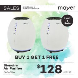 MAYER: Buy 1 Get 1 FREE Bionair Air Purifier Online