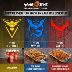 Wing Zone: Show your Pokemon Go Team & Enjoy Free Upgrade with Every Purchase of Set Meal