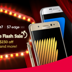 Singtel: CIS Online Flash Sale - Enjoy $230 off Samsung Note7, Galaxy S7edge 4G+ & S7 4G+