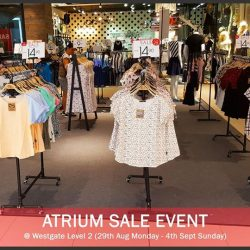 Moley Apparels: Atrium SALE event with further markdowns
