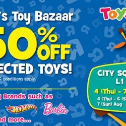 City Square Mall: Enjoy up to 50% Off Selected toys at Geoffrey's Toy Bazaar