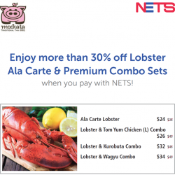 Mookata Thai BBQ: Enjoy more than 30% off Lobster Ala Carte & Premium Combo Sets with NETS Payment
