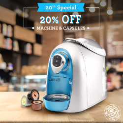 The Coffee Bean & Tea Leaf: 20% OFF Machines & Capsules