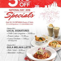 O' Coffee Club: Get $5.10 off when you order National Day Set Menu for 2