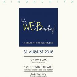 Kinokuniya: Enjoy up to 15% OFF at Webstore