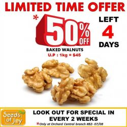 Orchard Central: Enjoy Seeds of Joy's 50% off on Baked Walnuts