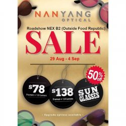 Nanyang Optical: Roadshow Sale 50% OFF Offers at NEX