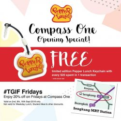 Pepper Lunch: Compass One Opening Special - 20% OFF on Fridays