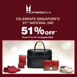 Uomo Collezioni: Enjoy 51% off all purchases at Moreschi Singapore