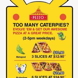 Pezzo Pizza: Flash either Metapod or Butterfree on your Pokemon Go mobile app for discounts