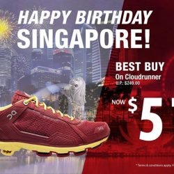 Running Lab: Special $51 promotion on On Cloudrunner in Tibetan Red