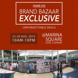 Home-Fix: Brand Bazaar at Marina Square Up to 40% on brands like Bosch, Ecovacs and Karcher