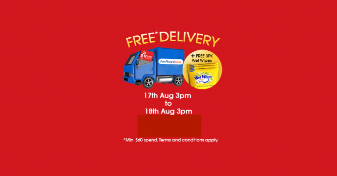 NTUC FairPrice: Coupon Code for FREE Delivery