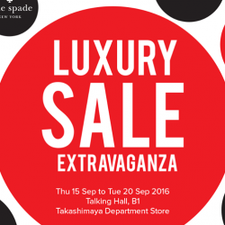 Takashimaya: Luxury Sale Extravaganza Up to 80% OFF Michael Kors, Kate Spade NEW YORK, Hackett London and La Martina