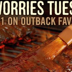 Outback Steakhouse: 1-for-1 Outback Favourites on Tuesdays