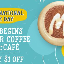 McCafé: Enjoy $1 off when you purchase a cup of Cappuccino
