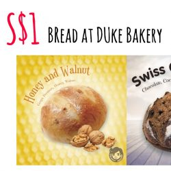 UOB: S$1 Bread at Duke Bakery with UOB Mighty or Apple Pay