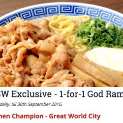 Ramen Champion: Hungrygowhere Exclusive 1-for-1 God Ramen at Great World City Outlet