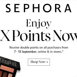 Sephora: All Members enjoy 2X Points with any purchase online and in stores