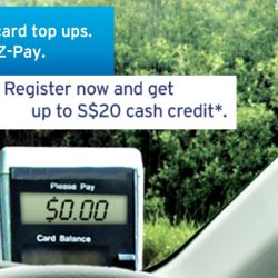 Citibank: Sign up for EZ-Pay and Get Up to S$20 Cash Credit on your ERP Charges!