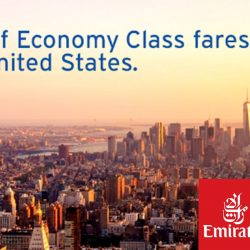 Citibank: Coupon Code for $100 OFF Economy Fares to USA from Emirates