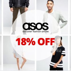 ASOS: Coupon Code for 18% OFF Selected Items