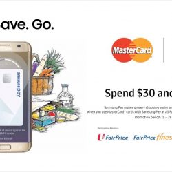 NTUC FairPrice: Get $5 OFF When You Use MasterCard Cards with Samsung Pay