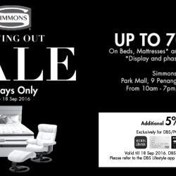 Simmons: Moving Out Sale Up to 70% OFF Beds, Mattresses & Bedding Accessories at Park Mall