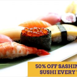 Standing Sushi Bar: Sashimi & Nigiri Sushi at 50% OFF Every Tuesday