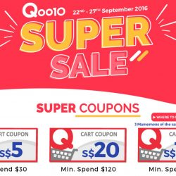 Qoo10: Up to $100 Cart Coupons Up for Grabs!