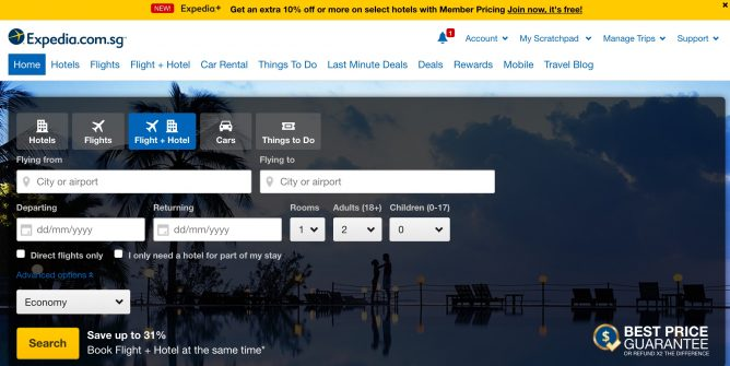 Expedia: Coupon Code for Extra 12% OFF Hotel Bookings with