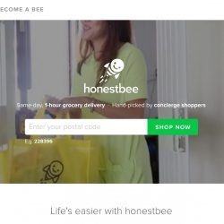 HonestBee: Coupon Code for $25 OFF Your Grocery Order with HSBC cards