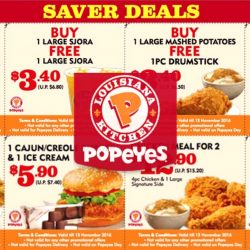 Popeyes: Save up to $8.70 with Coupon Saver Deals