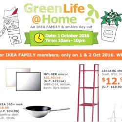 IKEA: Green Life @Home Family Day + Free Breakfast