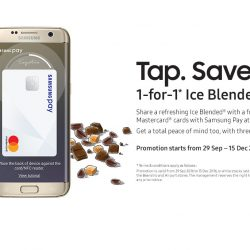 Samsung Pay: 1-for-1 Ice Blended Drink at The Coffee Bean & Tea Leaf