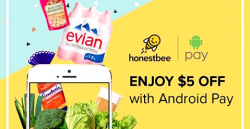 HonestBee: Enjoy $5 OFF when You Pay with Android Pay