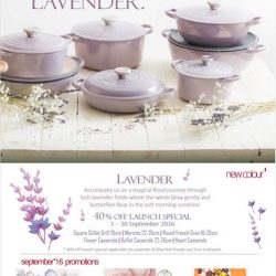 Le Creuset: 40% OFF Lavender Collection in September