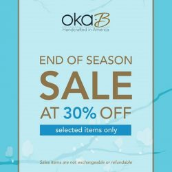 Oka-B: End of Season Sale with Selected items on 30% discount at Plaza Singapura
