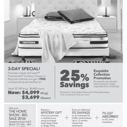 Sealy: Purchase Sealy UniCased Posturepedic Lensbury Queen or King-size mattress and get a FREE corresponding-size bedframe