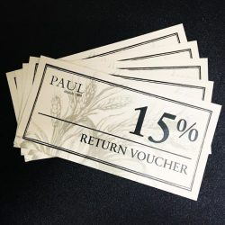 PAUL: Receive a 15% Return Voucher at Savour 2016