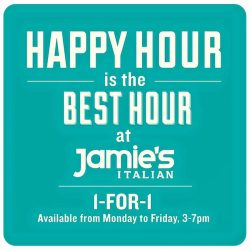 Jamie's Italian: 1 for 1 deal on selected wines, prosecco, spirits and beers