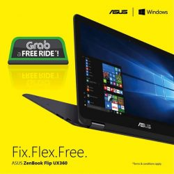 ASUS: FREE Grabcar ride (worth $30) when you purchase the ASUS ZenBook Flip UX360