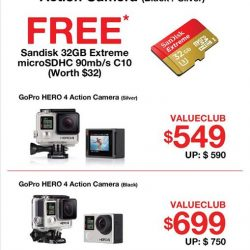 Challenger: Get a free Sandisk 32GB microSDHC (worth $32) with each purchase of a GoPro HERO 4 Action Camera