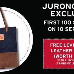 Levi's: Save up to $70 on each pair of Levi's jeans, with min. purchase of any 2 pairs at Jurong Point