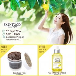 Skinfood: Enjoy 20% OFF All Skinfood Products at Guardian Plus Takashimaya