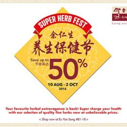 Eu Yan Sang: Super Herb Fest up to 50% OFF