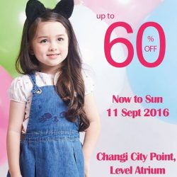 PONEY: Atrium Sales Up to 60% OFF Kidswear at Changi City Point