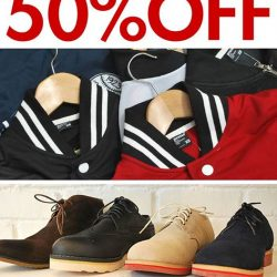 Praise: 50% OFF for jackets and shoes